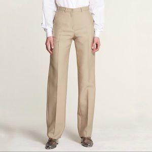 Ports 1961 Camel Silk Blend High Rise Trousers 6